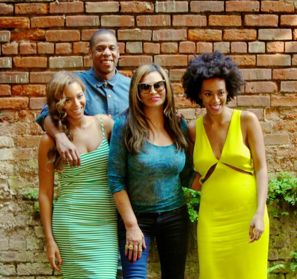 Jay, Beyonce, Solange and Tina Knowles
