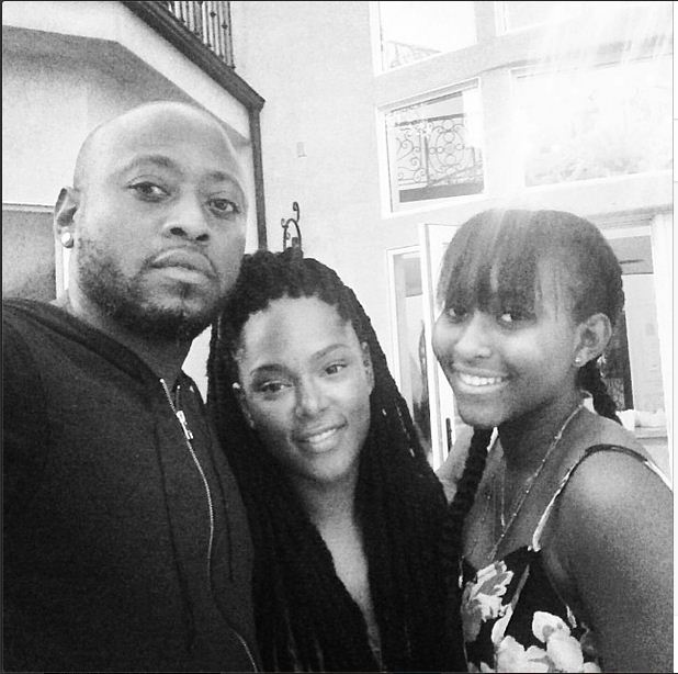 Omar and Keisha Epps and their daughter