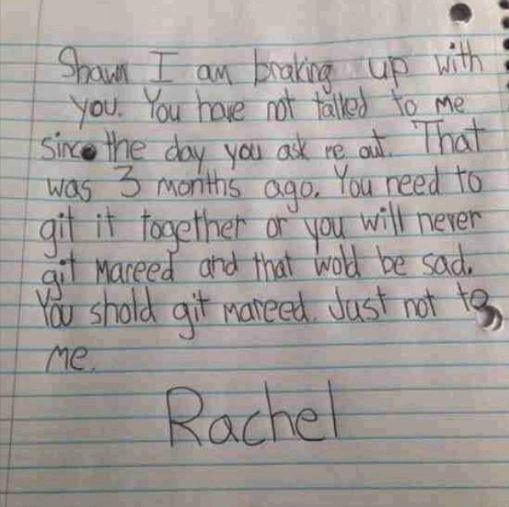 Rachel's letter