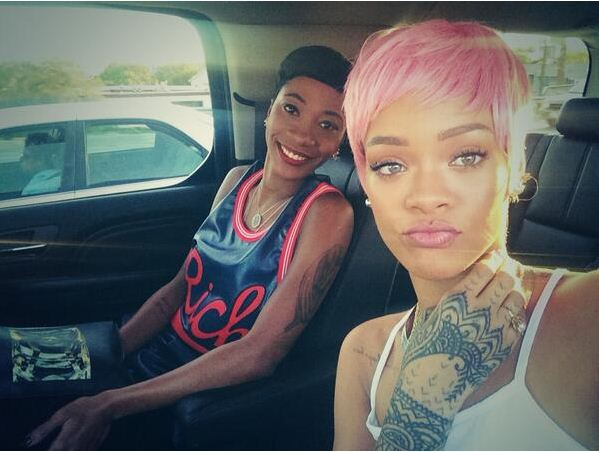 RiRi with a short pink do