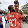 Game with his daughter Cali