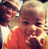 Neyo with his son