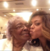 Taraji P. Henson with her grandmother