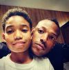 Marlon Wayans & his son