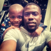 Kevin Hart with his son