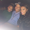 Eva Marcille, Russell Simmons, and Angela Simmons