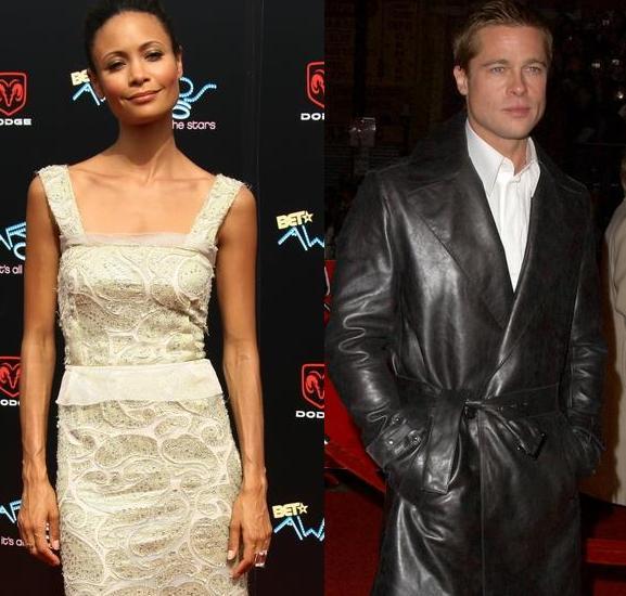 Thandie Newton & Brad Pitt