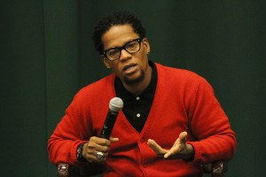 D.L. Hughley attends a booksigning for his new book