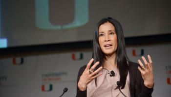 Lisa Ling giving a speech