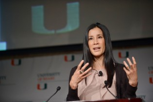 Lisa Ling giving a speech
