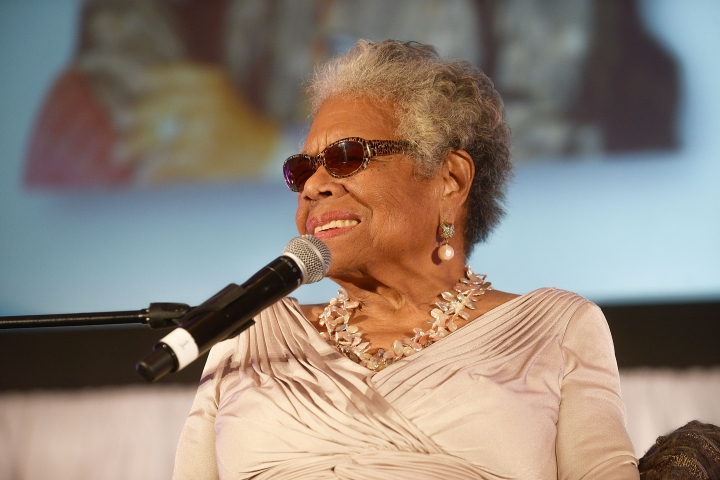 Dr. Maya Angelou onstage at the Women 2 Women 2014 Inaugural Conference Luncheon