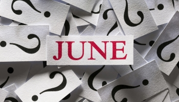 June surrounded by question marks