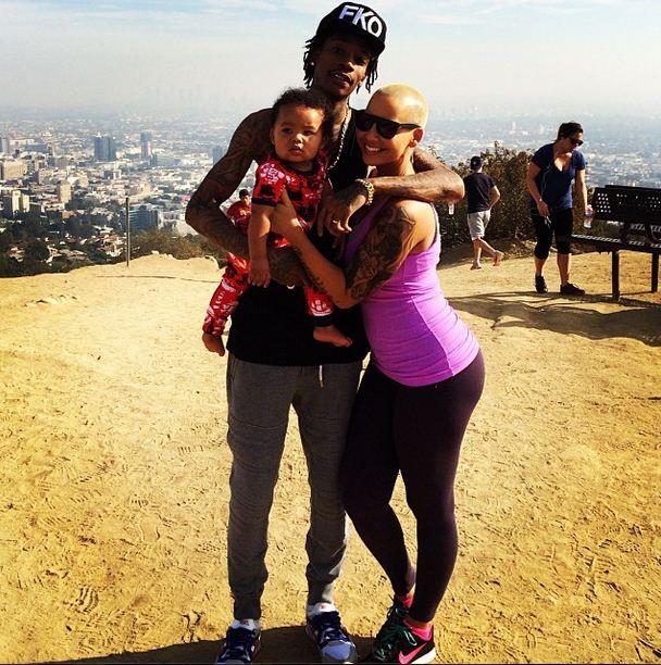 Amber Rose is mom to son, Sebastian.