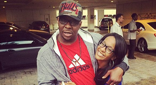Bobbi Kristina and her dad Bobby Brown
