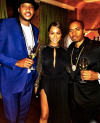 Carmelo and Lala Anthony with Nas