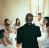 Kanye West and the Kardashian family