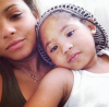 Christina Milian and her daughter