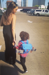 Tia Mowry-Hardrict and her son