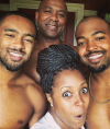 Keshia Knight Pulliam with her brothers and dad