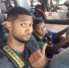 Usher and his son