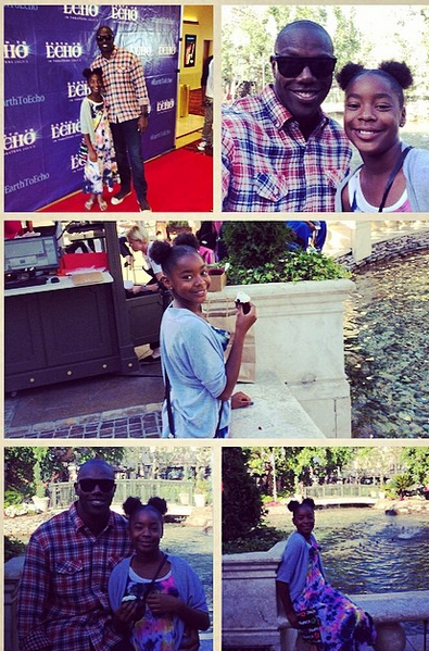 Terrell Owens and his daughter