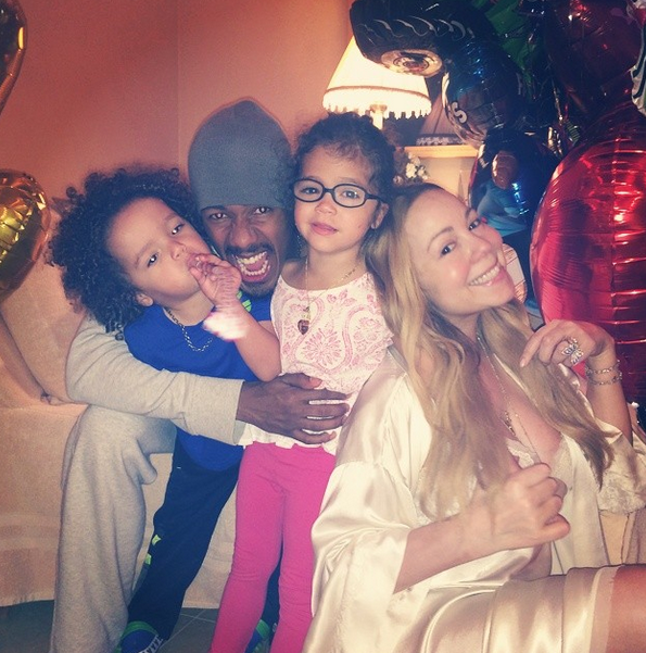 Nick Cannon, Mariah Carey, and their kids
