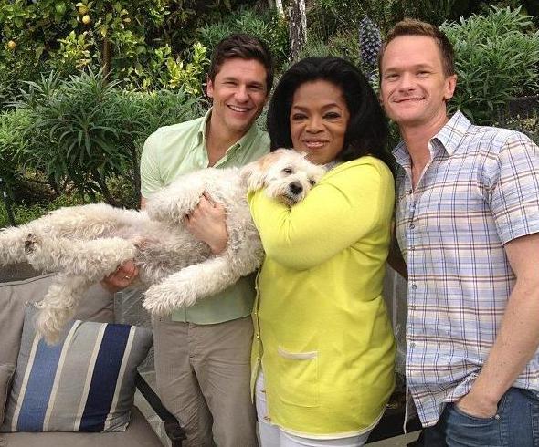 Oprah, David Burtka and Neil Patrick Harris