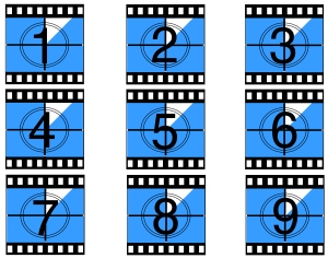 An image of 9 film countdown boxes