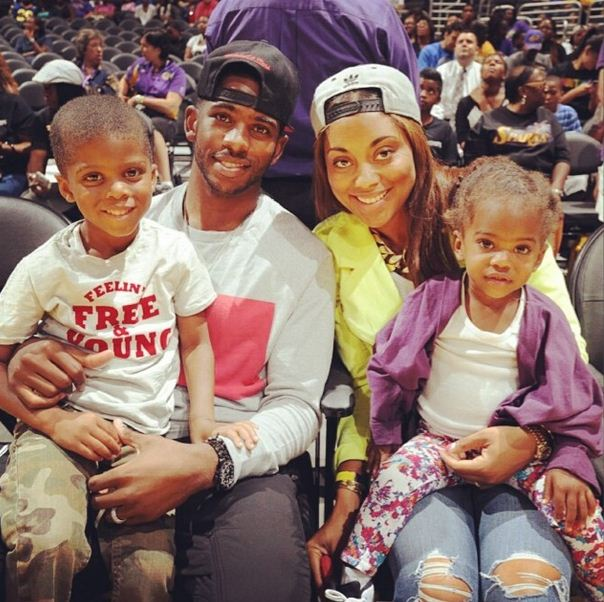 Chris and Jada Paul with their family