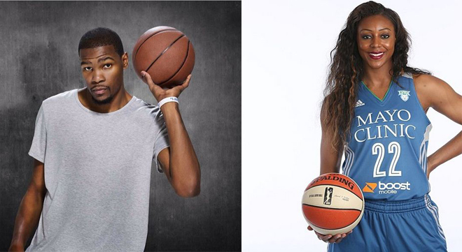 Kevin Durant & Monica Wright