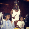 Kevin Hart and his kids