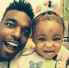 Luke James and his god daughter
