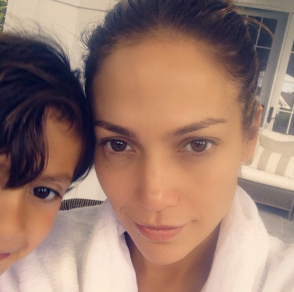 Jennifer Lopez and her son