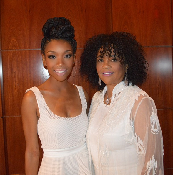 Brandy and her mom