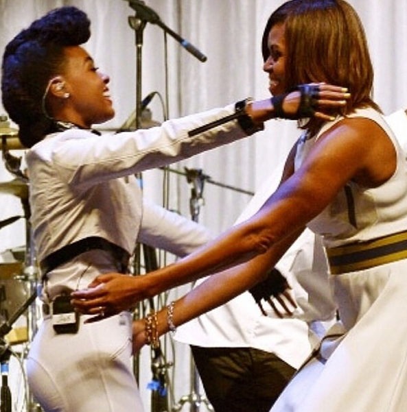 Janelle Monae and Michelle Obama
