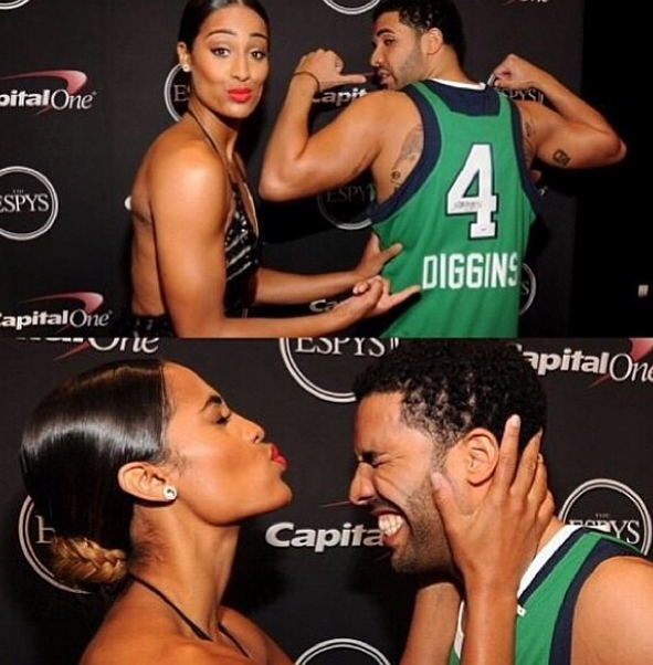 Skylar Diggins and Drake