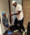 Carmelo Anthony and his son