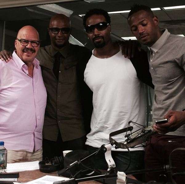 Tom Joyner, Damon Wayans, Shawn Wayans, and Marlon Wayans