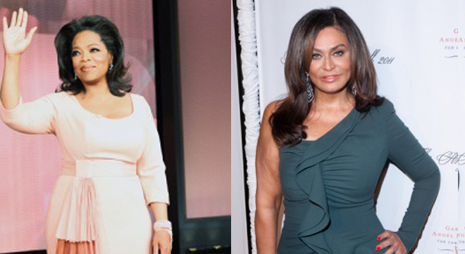 Oprah Winfrey and Tina Knowles are both 62 and were both born in January.