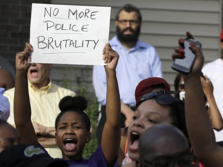 Peaceful protest in Ferguson, Missouri.