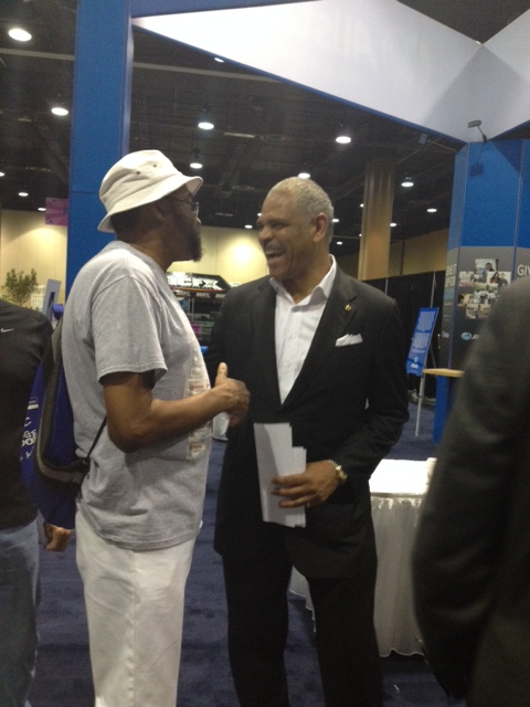Carnival's CEO Arnold Donald with a guest at the 2014 Allstate Tom Joyner Family Reunion
