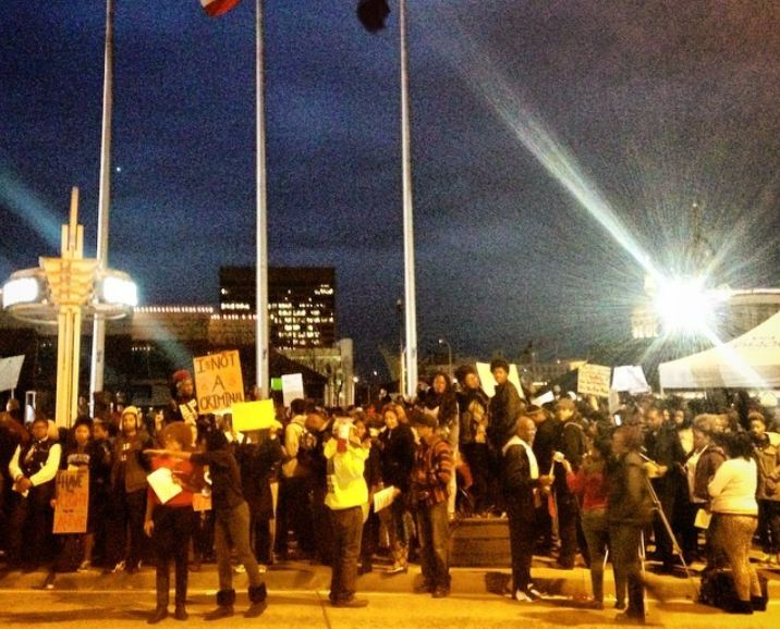 Citizens protest the Ferguson Decision in Atlanta, Georgia.