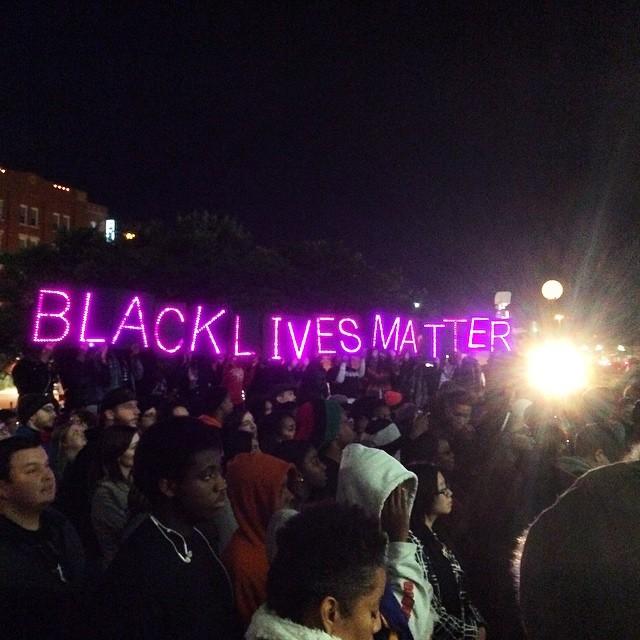 Citizens protest the Ferguson Decision in Dallas, TX.