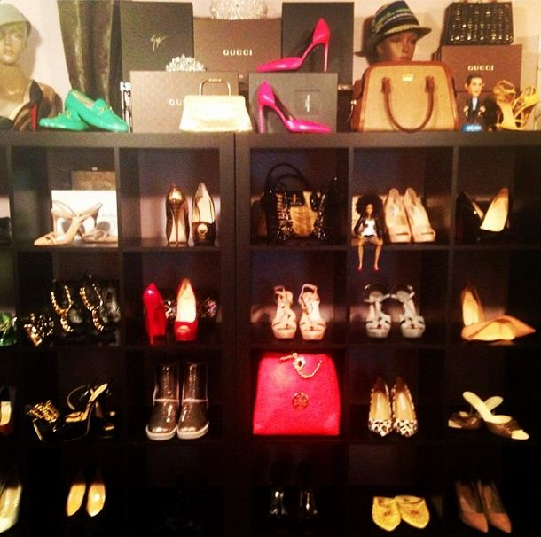 Cynthia Bailey shows off her shoe closet