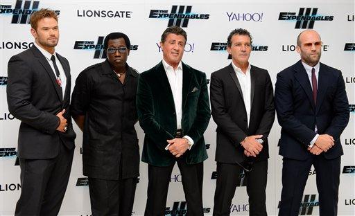 Kellan Lutz, Wesley Snipes, Sylvester Stallone, Antonio Banderas, Jason Statham
