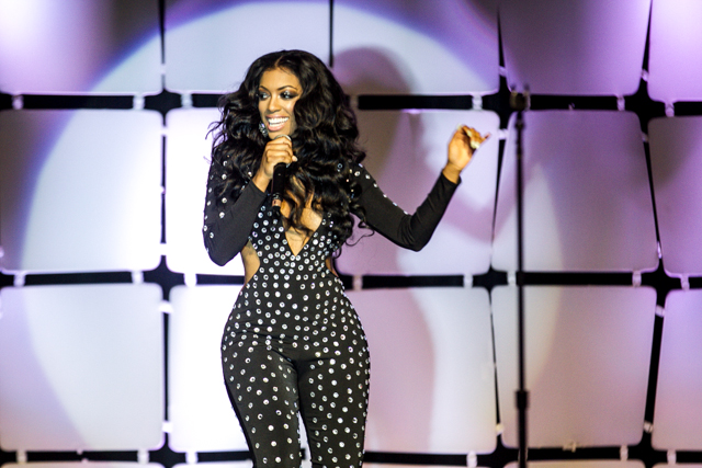"Porsha Williams performs ""Flatline"" at the 2014 Allstate Tom Joyner Family Reunion."