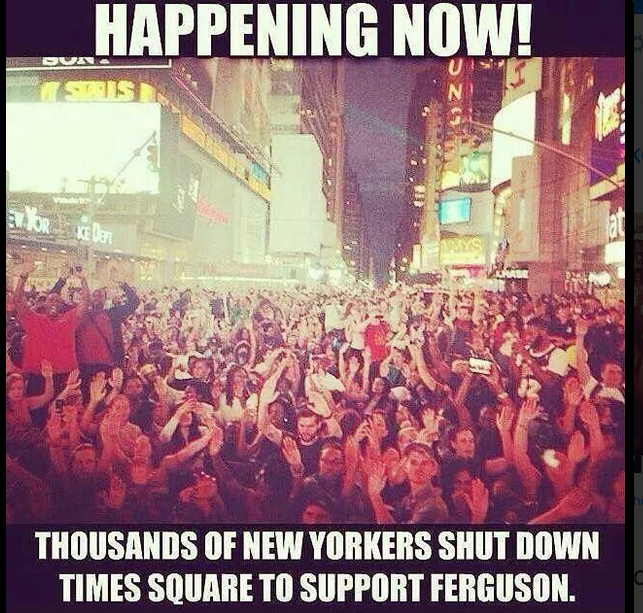 National Moment of Silence protest around the country, this one shut down Times Square