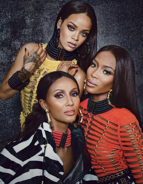 Rihanna-Iman-Naomi-Balmain