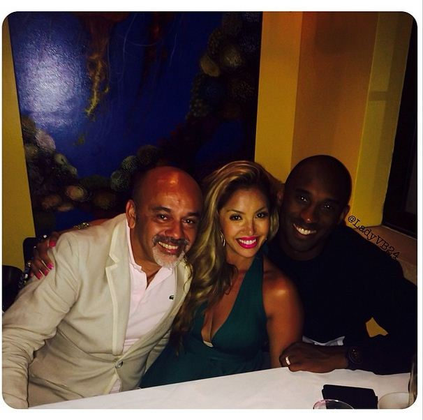 Kobe and Vanessa have dinner with Christian Louboutin