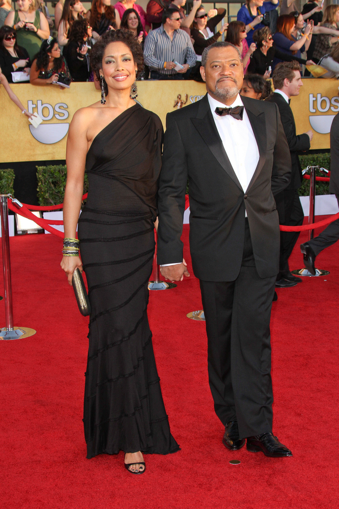 Laurence Fishburne met his wife Gina Torres on the set of 'Matrix Reloaded'